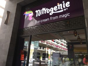 ハワイ アラモアナ ナイトロジェニーアイスクリーム